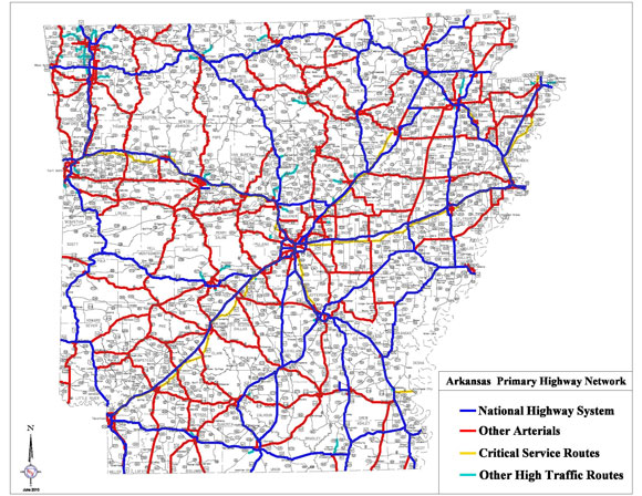 AR: Primary Highway Network