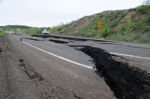 ND: Landslide Repair Project on ND Highway 22