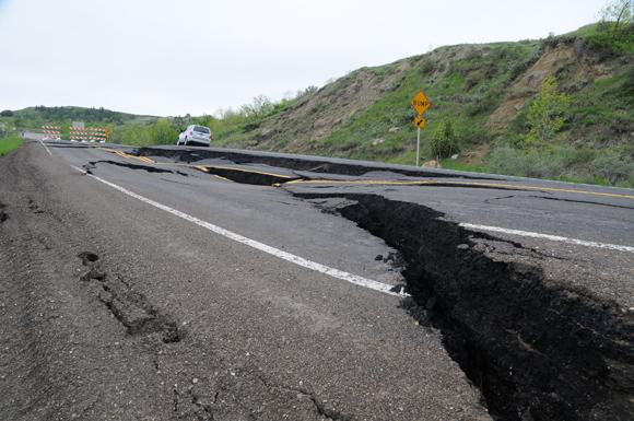 ND: Landslide Repair Project on ND Highway 22