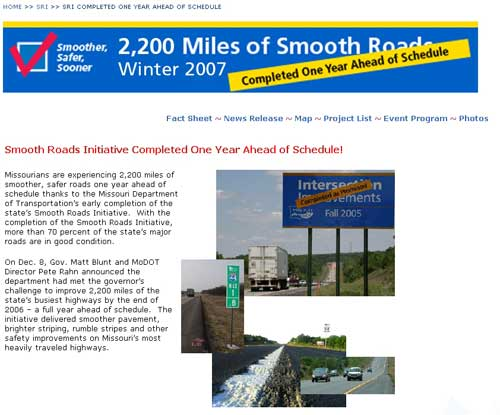 Smooth Roads Initiative - Missouri