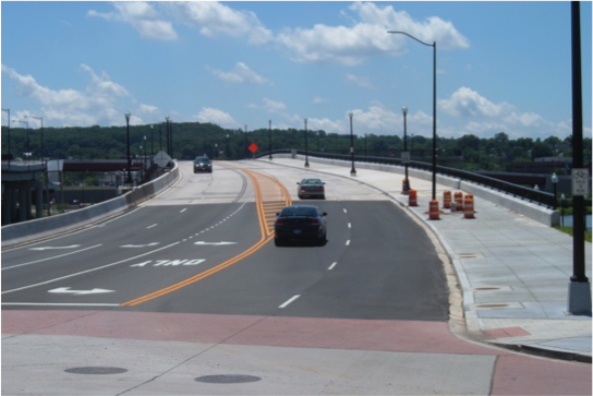 11th Street Bridge_travel lanes