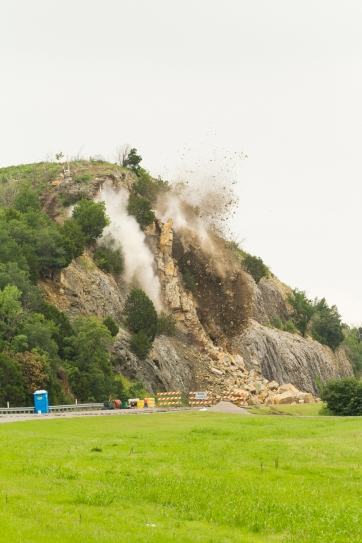 Blast - I-35 Arbuckle rock slide stabilization