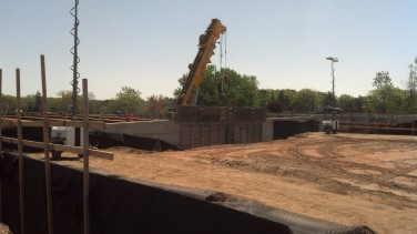 Photo - New Bridge Headwall in Highway Median