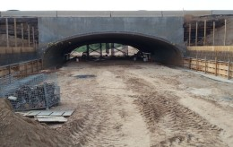 under pass construction