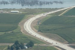 A caravan navigates west and south around the Wahoo Bypass following a ribbon cutting to officially open the bypass. Staff Photo by Nancy McGill
