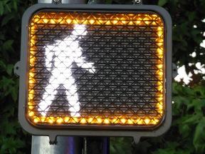 Yellow Pedestrian Border