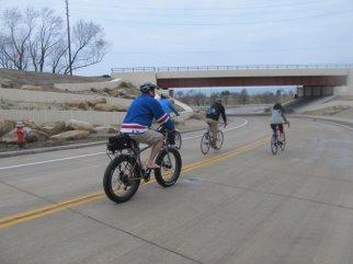 Bikers on New Roadway