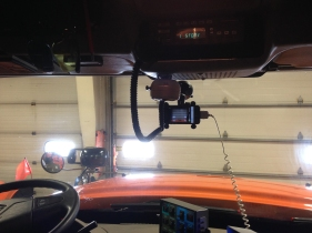 iPhone installed for plow cam images