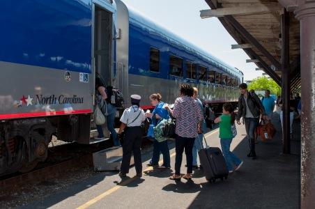 NCDOT-Piedmont Train Boarding