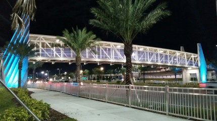 US 92 Ped Bridge at Night