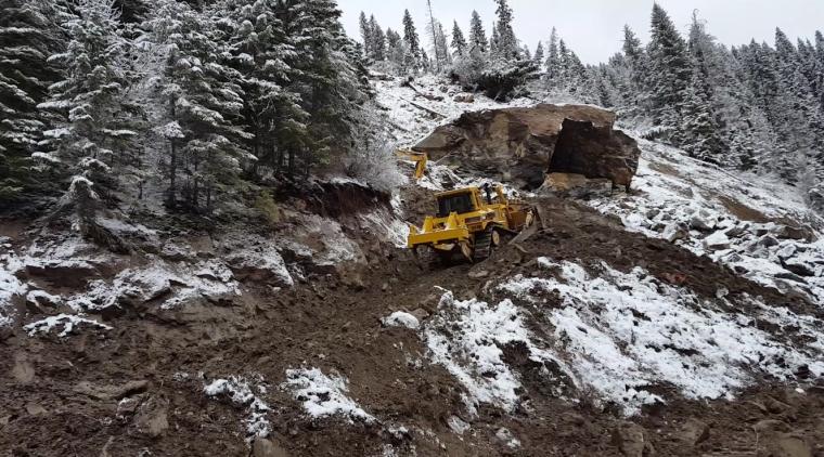 Idaho Transportation Department's Elk City Slide Cleanup
