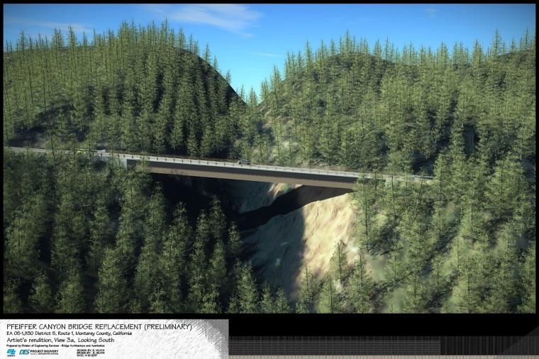 Pfeiffer Canyon Bridge View 3a Looking Sou